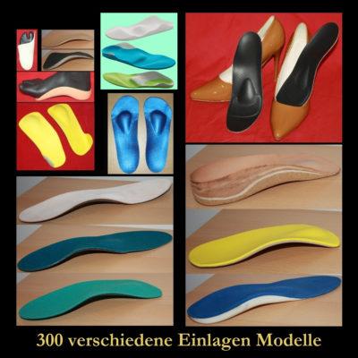 Orthopädische Schuheinlagen und Maßeinlagen
