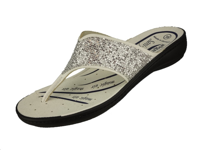 3489 - 1011 weiß Nappino - Silver
